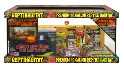 ReptiHabitat, 40 Gallon Bearded Dragon Starter Kit