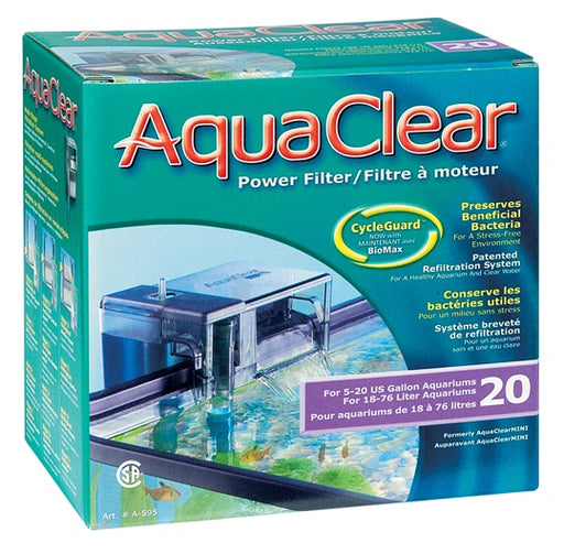 AquaClear 20 Power Filter, A595, 20 gal