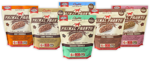 Raw Frozen Meal Formulas, Mixes & Grinds