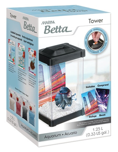 Betta Tower Aquarium 0.33 US Gal (1.25 L)