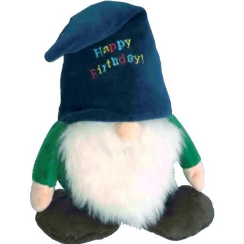 Happy Birthday Gnome Dog Toy, 13""