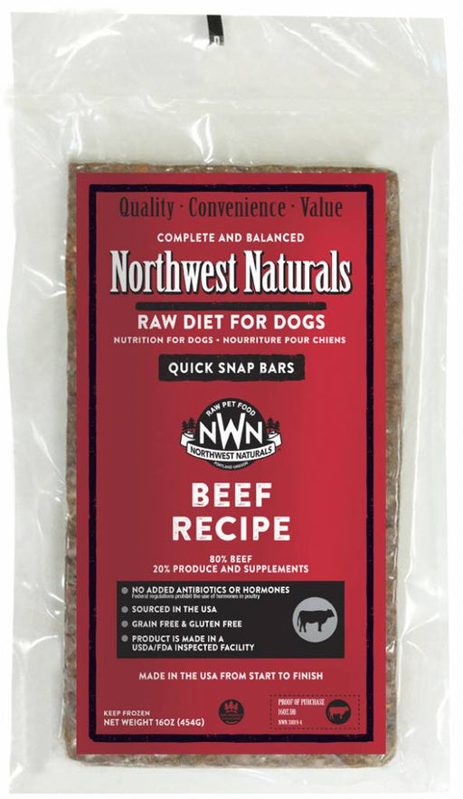 Beef Recipe Dinner Bars 25lbs, Raw Diet For Dogs