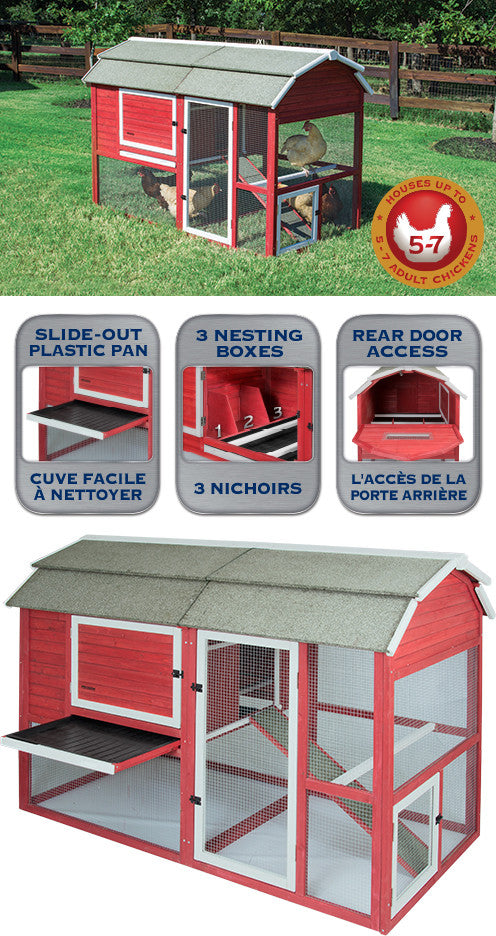 Old Red Barn II Chicken Coop 77 x 41 x 51