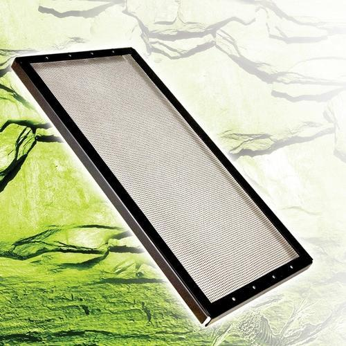 Fresh Air Screen Cover, Metal Black 20X10