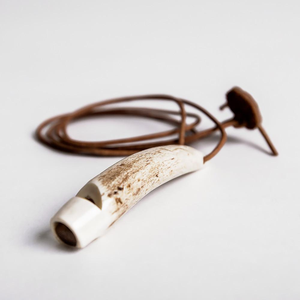 Dog Whistle Stag Horn Hand Carved