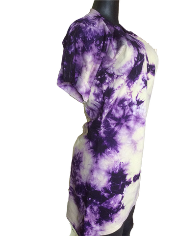 Jersey tie dye purple dress