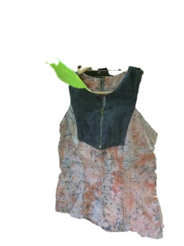 Vogo batik and denim top