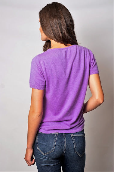 Allure Cashmere Short Sleeve Cashmere Top