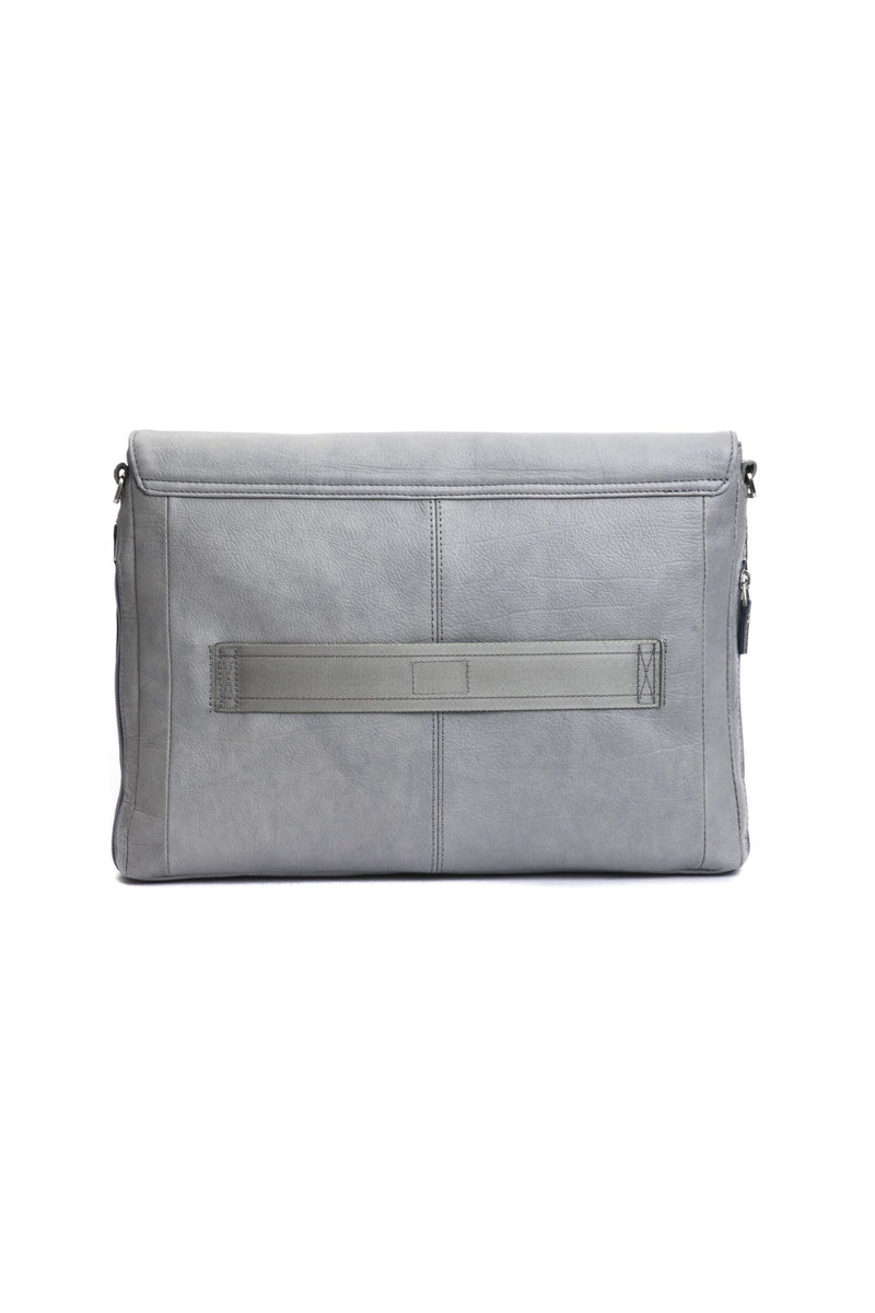 Grey Navy Messenger Bag