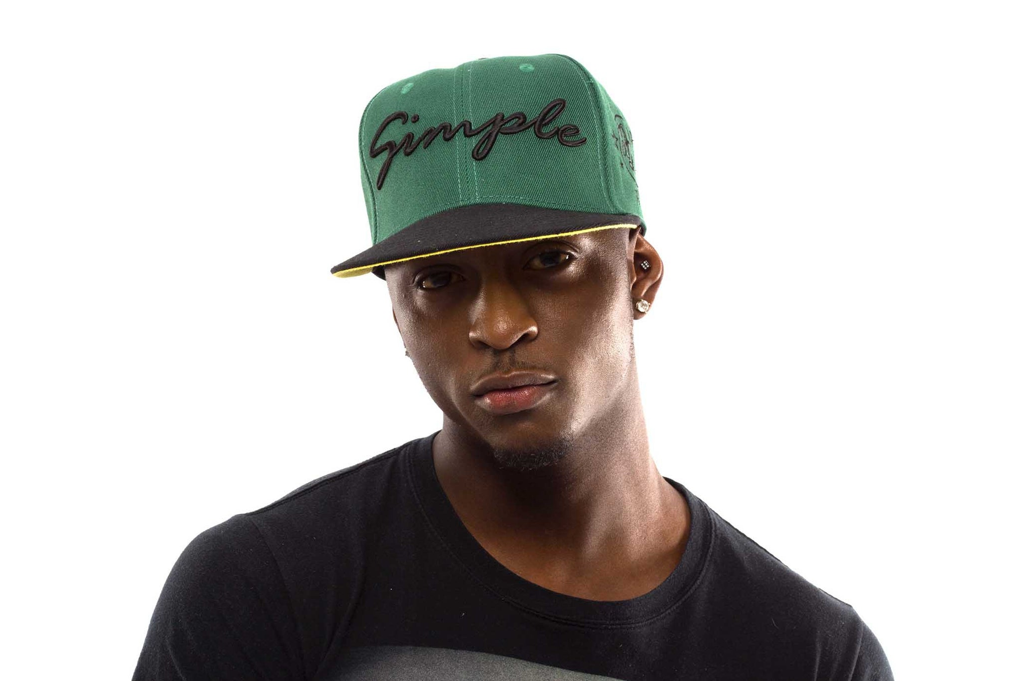 Green Simple Snap Back