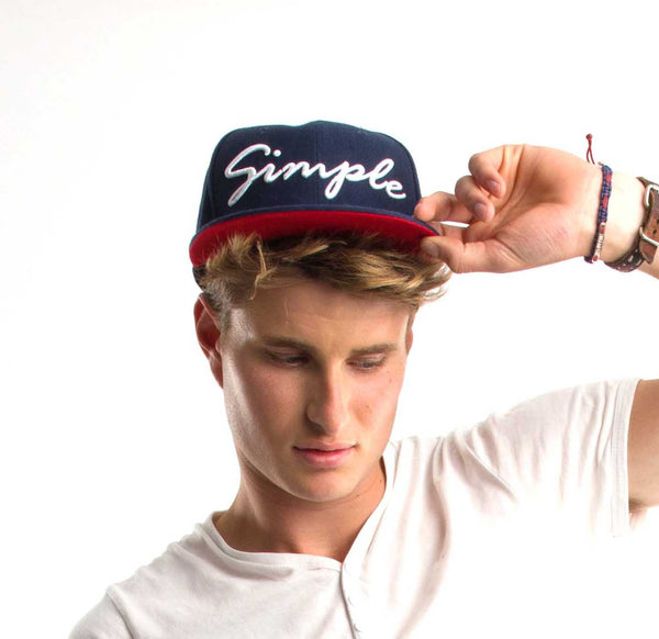 Navy Simple Snap Back