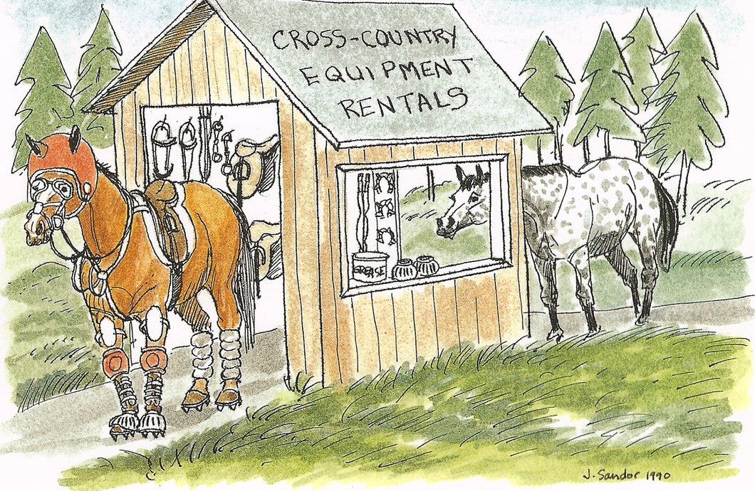 Cross Country Riders Equipment Rentals<br>Note Card #10