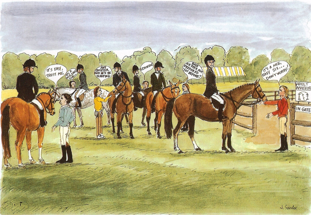Amateur Hunter Ring Warm Up Area<br>Note Card #21