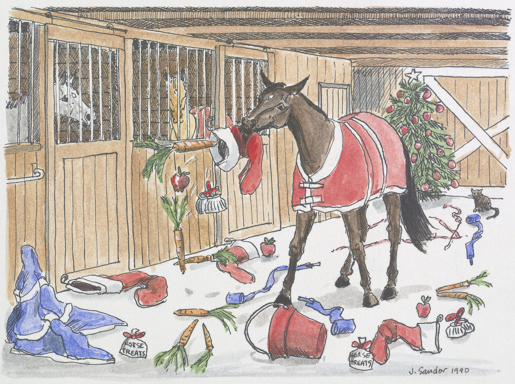 Naughty Horse<br>Christmas Card #H2
