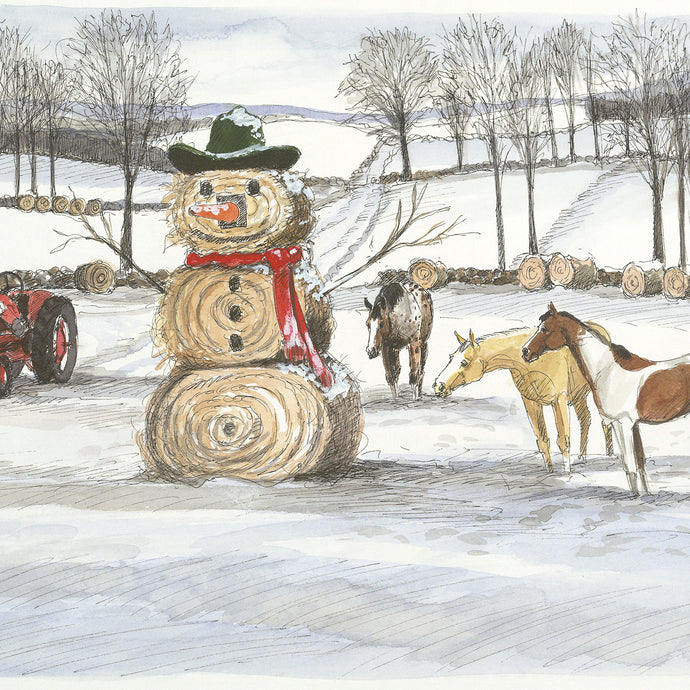 Round Bales<br>Christmas Card #H45