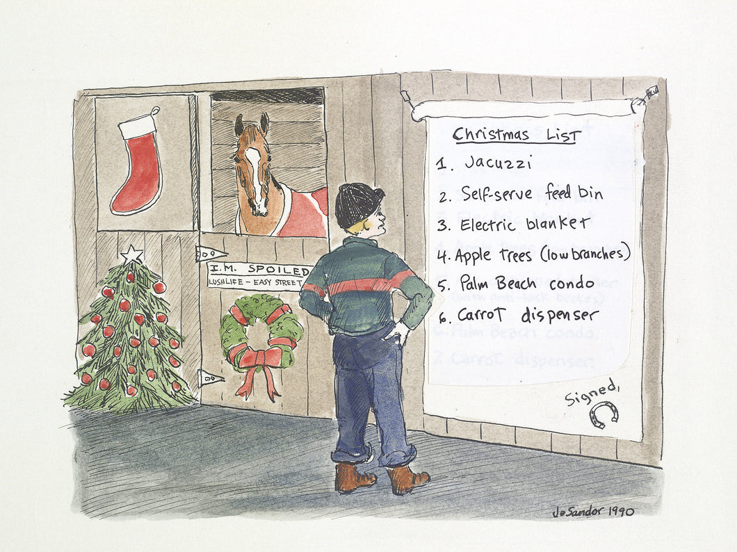 Spoiled Horse<br>Christmas Card #H9