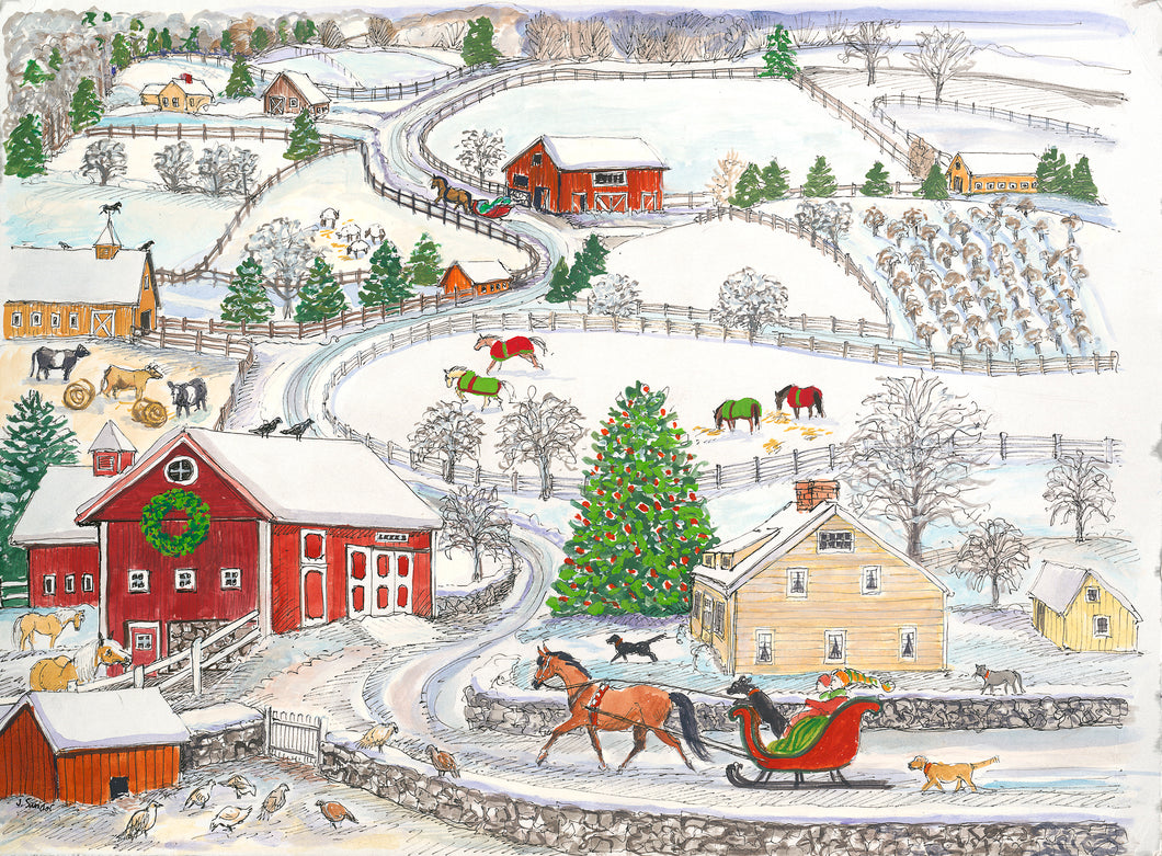 In the Country<br>Christmas Card #H58