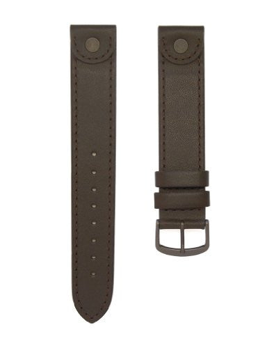 18mm Dark Brown Leather Watch Band Fits Victorinox Swiss Army Large Cavalry & More