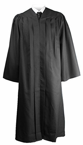 "GraduationMall Unisex Deluxe Bachelor Graduation Gown Balck Full Fit size 57FF(6'0""-6'5"")"