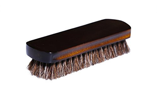 100% Horsehair Shine Brush with Schima Wood Handle