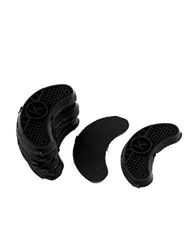 uxcell Nonslip Rubber Shoes Heels Sole Guard Plates Taps 10Pcs Black