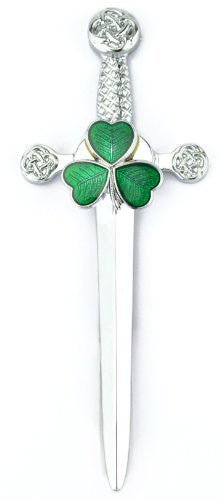 Pewter Irish Shamrock Kilt Pin