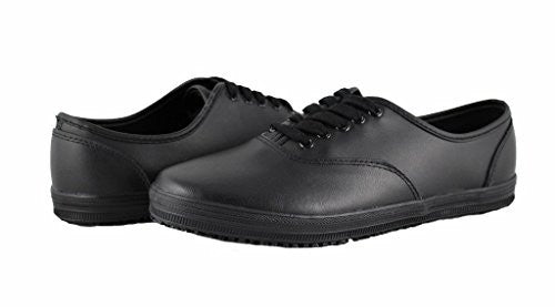 Townforst Womens Sassy Leather Slip Resistant Lace Up Shoes 12