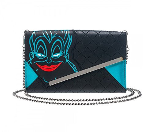 Disney The Little Mermaid Ursula Envelope Wallet with Chain