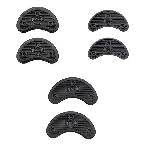 ewinever(TM) 1set Of 40 Pairs Shoes Boots Sole Heel Repair Plates Pad Guard Plate Tap With Nails Size