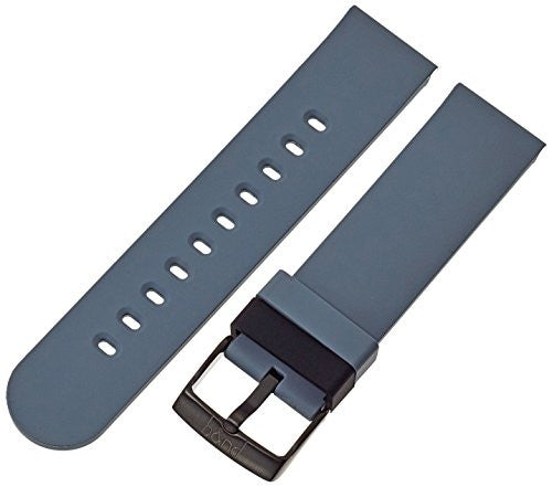 b&nd by Hadley Roma with MODE 18mm Silicone Grey Watch Strap