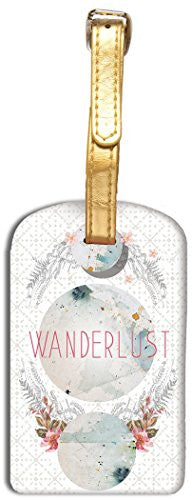 Papaya Wanderlust Luggage Tag
