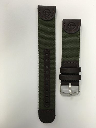 Timex Men's Q7B805 Expedition Sport Genuine Leather 20mm Olive Green Replacement Watchband