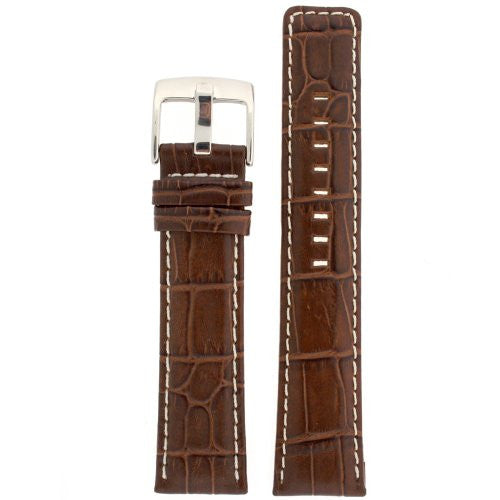 Watch Band Leather Dark Brown Sport Model 22 millimeter Tech Swiss