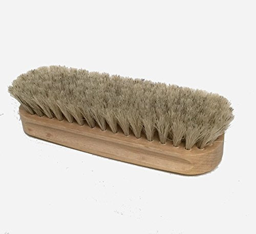 Dasco Small Professional Shoe Shine Horsehair Brush (Natural/Gray)
