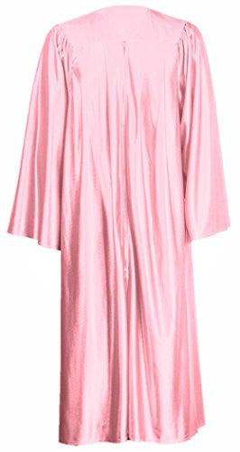 "GraduationMall Unisex Economy Shiny Graduation Gown Only Pink Full Fit size 57FF(6'0""-6'5"")"