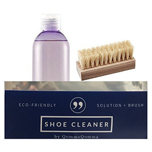 Shoe Cleaner Brush and Solution Premium Kit for Sneakers and Boots of Leather Nubuck or Suede Material (Medium Kit)