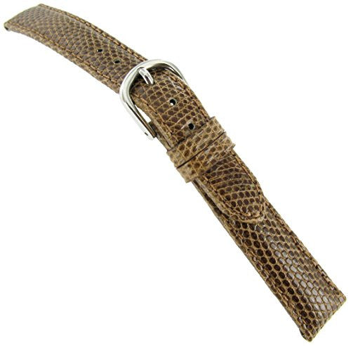 14mm deBeer Paris Genuine Lizard Turned Edge Tan Ladies Handmade Watch Band