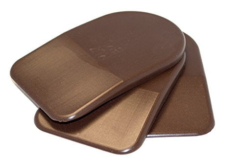 BML 3mm Heel Lifts, 3pk (Mens Large, Brown [soft])