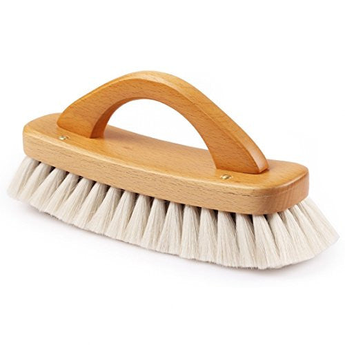 Burstenhaus Redecker Shoe Shine Brush with Handle, Grey