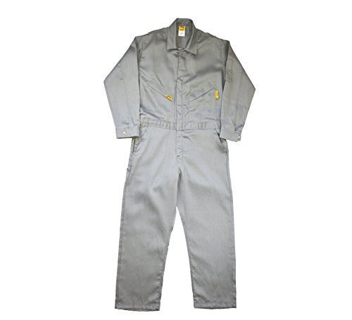 Lapco FR GOCLW6GY-66-RG Flame Resistant Light Weight Deluxe Coveralls, Regular, Grey