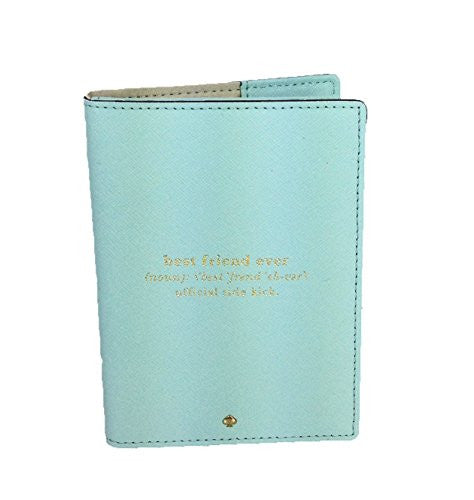 Kate Spade 'Best Friend Ever' Travel Passport Holder, Grace Blue
