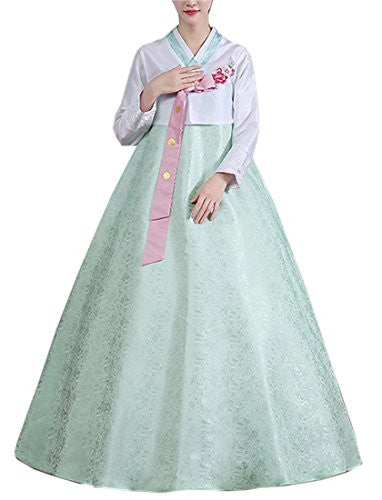Lemail wig Women Korean Traditional Costume Long Sleeve Hanbok Dress Halloween Cosplay