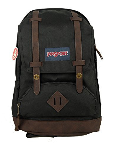 "JanSport Cortlandt SRSRT School Student Bookbag 15"" Laptop Sleeve Backpack, Black"