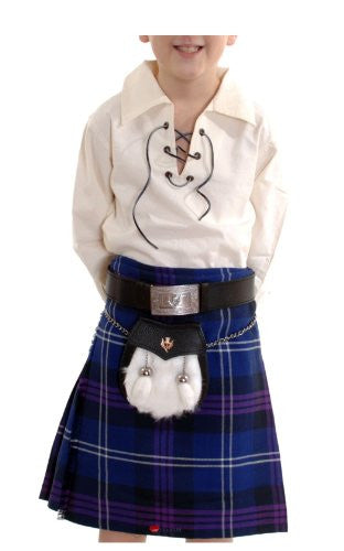 Boys Kilt Poly-viscose Heritage Of Scotland Tartan option 5 to 6 years old -