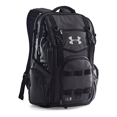 Under Armour Unisex Storm Coalition Backpack, Black/Steel, One Size