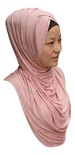 TheHijabStore Criss Cross Pleated One Piece Instant Hijab Shawl
