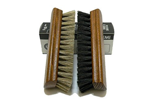 Shoe Polishing Brushes Set - Horse Hair Bristles & Hardwood Handle for daily Shoe Care tasks.