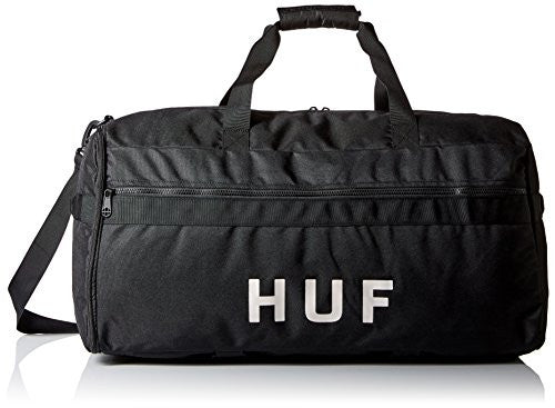 HUF Men's Travel Duffle Bag, Black, One Size