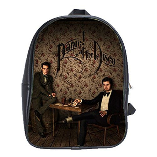 Panic At The Disco Leather Notebook Laptop Macbook Ipad Bag School Backpack Rucksack Bags