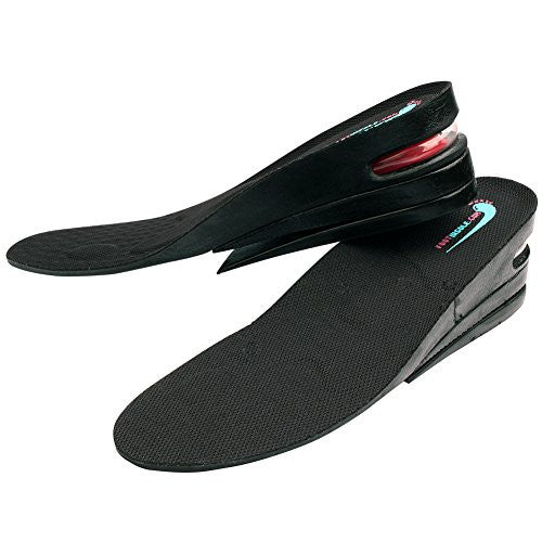 "footinsole 3-Layer Air up 2.5""(6cm) up Height Increase Shoe Insoles Comfort Inserts for Men (Large)"